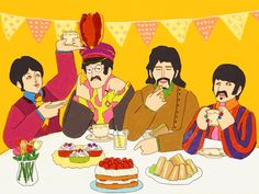 Beatles Art, The Beatles, Paul Mccartney Birthday, Just Good Friends, Hits Movie, All About Music, The Fab Four, Yellow Submarine, Saddest Songs