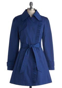 Metropolitan Miss Coat in Cobalt | Mod Retro Vintage Coats | ModCloth.com