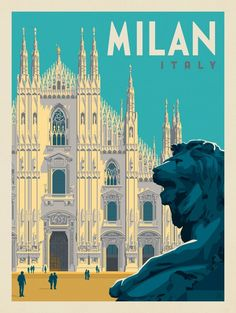 time to Travel To Italy To Italy To Italy amalfi coast To Italy budget To Italy cheap To Italy clothes To Italy outfits To Italy packing To Italy places to visit To Italy tips To Italy with kids Italy: Milan Poster Art, Art Deco Posters, Poster Prints, Graphisches Design, Travel Illustration, Italy Illustration, Photo Vintage, Vintage Hawaii, Travel Wall