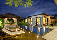 Bali Villa/Bali resort lifestyle with swimming pool and outdoor room Bali Architecture, French Architecture, Tropical Architecture, Villa Design, Home Design, Design Ideas, Beautiful Villas, Beautiful Homes, Bungalow