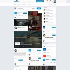 Industry Social Network / Marketplace Homepages Design by Clean Imagination