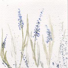 original flower watercolor   flower in blue and green   by mallalu