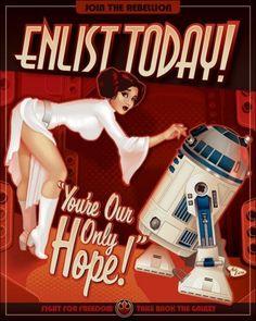 Affiches Star Wars : Leia pin-up façon années 40 ! - Planète Star Wars