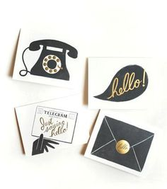 Rifle Paper Assorted Hello Note Card Set