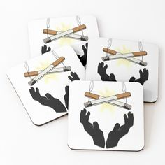 'Holy Cigarette / Praying For Nikotine' Coasters by RIVEofficial Holi, Pray, Coasters, Custom Design, Digital Art, Trends, Accessories, Shopping, Style