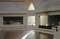 Hall of Remembrance at The National Holocaust Museum.