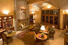 Crosswater Ski Lodge traditional-living-room