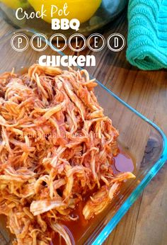 Crock Pot BBQ Pulled Chicken (Healthy Recipe!)