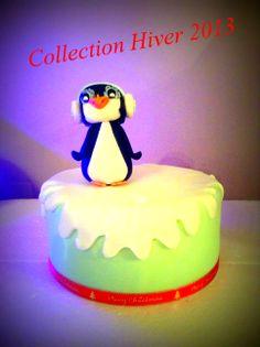 Penguin Christmas Cake Gâteau de Noël Pingouin