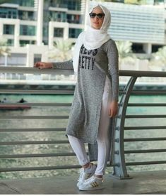 sporty casual hijab style- Hijab fashion and Muslim style http://www.justtrendygirls.com/hijab-fashion-and-muslim-style/