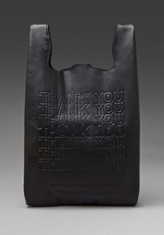 CAST OF VICES Thank You Corner Store Leather To-Go Bag in Black - Handbags