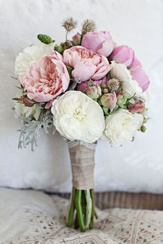 """Say """"I do"""" to these amazing bouquet. Peonies are a favorite garden blooms – beloved for their sweet scent, bright color, and voluptuous blossoms, peonies are the perfect addition to your bridal bouquet. Peony Bouquet Wedding, Spring Wedding Flowers, Peonies Bouquet, Wedding Flower Arrangements, Bridal Flowers, Wedding Centerpieces, Floral Wedding, Floral Arrangements, Wedding Decorations"""