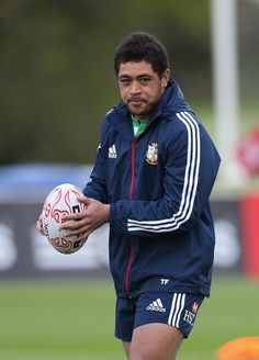 Toby Faletau during lions training. (Nice face Tobs) British And Irish Lions, Welsh Rugby, Nice Face, Interesting Faces, Rain Jacket, Windbreaker, Training, Adidas, Jackets