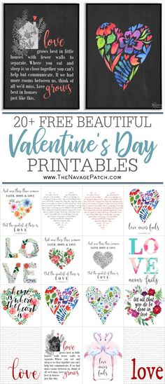 20+ Beautiful FREE Valentine's Day Printables | Free watercolor Valentine's Day printables | Free Love Day printable art | Free Printable Book Page Quote Art | Free printable oversize typography wall art | #TheNavagePatch #FreePrintable #watercolor #FreeWallArt #easydiy #Valentines #Valentinesday #Holidaydecor #DIYValentines #Typography | TheNavagePatch.com