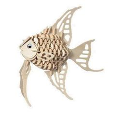 Angel Fish - Jigsaw Woodcraft Kit Wooden Puzzle-This great Angel Fish Jigsaw Woodcraft Kit, is a high grade wooden puzzles come with assembly instructions. Designs are pre-cut. The puzzle contains 130 pieces that simply push out from the bo Woodworking Jigsaw, Woodworking Kits, Woodworking Bench, Wooden Fish, Wooden Jigsaw, 3d Puzzles, Wooden Puzzles, Woodcraft Construction Kit, Wood Construction