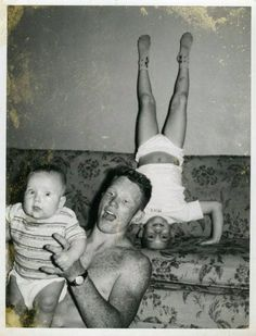 vintage everyday: 37 Candid Snapshots Capture Funny Moments of Dads and Their Kids from the Mid-20th Century