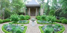 Blue & white garden by Alex Smith Garden Design, LTD - http://alexsmithgardendesign.com/portfolio/flat-lands/