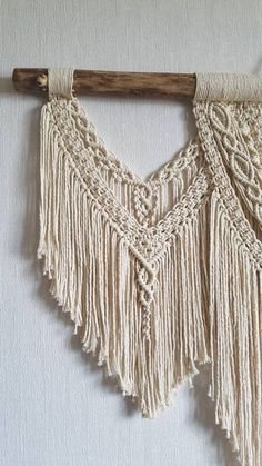 Large Macramé Wall Hanging Macrame Wall Art Woven Wall Hanging #hanging #large #macrame #woven