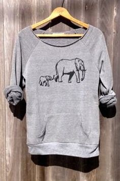 Cute elephant sweater top