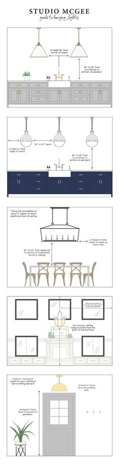Guide to Hanging Lights in the kitchen #kitcheninterior