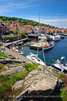 Marina on Bornholm island High resolution version and licence for printing are available on request: www.pl Denmark Travel Para obtener información, acceda a nuestro sitio Visit Denmark, Denmark Travel, Places Around The World, Around The Worlds, Wonderful Places, Beautiful Places, Saint Marin, Places To Travel, Places To Go