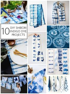 10 DIY Shibori Indigo Dye Projects