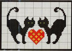 Black Cat Cross Stitch Pattern