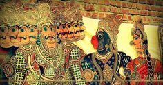 Hanuman and Ravana in Tholu Bommalata, the shadow puppet tradition of Andhra…