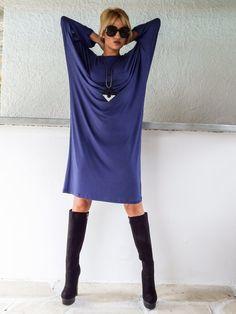 Blue Raf Loose Midi Dress / Plus Size Dress / by SynthiaCouture