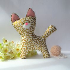 Plush Kitten stuffed cat for a baby cute by CherryGardenDolls