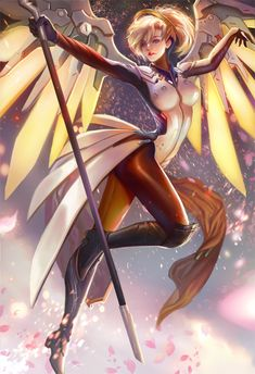 Mercy Fan art and see you at AX by jiuge on DeviantArt