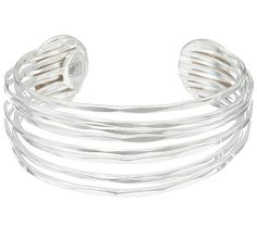 Wire ahead. Add a decidedly fashion-forward accessory to your ensemble with this white bronze, multi-row cuff from RLM Studio. Page 1 QVC.com