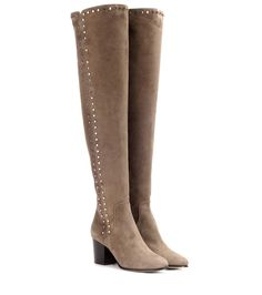 jimmy choo Harlem 65 taupe suede over-the-knee boots