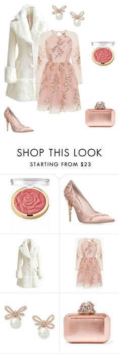 """""""Chance of rose"""" by aconner813 on Polyvore featuring Milani, RALPH & RUSSO, WithChic, Chi Chi and Jimmy Choo"""
