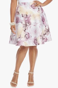 Plus Size Pristine Floral Pencil Skirt | Fashion To Figure