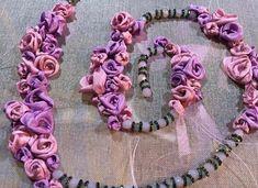 Flowers going in :) Silk Ribbon, Ribbon Rose, Ribbon Design, Monogram, Brooch, Garlands, Flowers, Instagram, Jewelry
