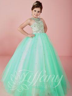 d3de4c9727 Tiffany Princess 13470 Halter Beaded Pageant Dress Vestidos De Fiesta Para  Niñas