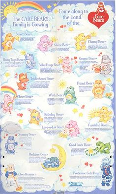 Reminds me of the Care Bear wallpaper I had as a young child. When I grew up a bit I demanded a boyish grey wallpaper instead lol