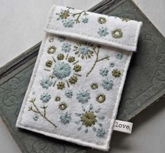 Hand Embroidered Wool Felt Ipod Touch