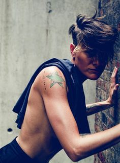 Casey Legler, French female artist and former Olympic swimmer, currently working as a male model.