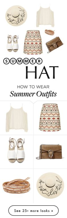 """Collection Of Summer Styles    """"aztec summer outfit"""" by aneta-piliar on Polyvore featuring Topshop, Eugenia Kim, Gucci, Chan Luu, Elizabeth and James, Aztec, summerhat and sunnyhat    - #Outfits  https://fashioninspire.net/fashion/outfits/summer-outfits-aztec-summer-outfit-by-aneta-piliar-on-polyvore-featuring-topshop-eugenia-kim/"""