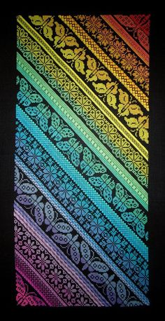 Twisted Rainbow Sampler CROSS STITCH ONLY Chart by Northern Expressions Needlework