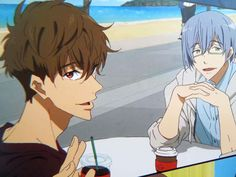 Natsuya and Nao Free Hot Anime Boy, Anime Guys, Anime Coffee, Splash Free, Free Eternal Summer, Free Iwatobi Swim Club, Kyoto Animation, Free Anime, Another Anime