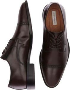 Joseph Abboud Calvin Burgundy Cap Toe Lace Up Shoes - Dress Shoes | Men's Wearhouse