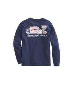 Boys Long Sleeve Basketball Character Whale Pocket T Shirt