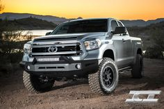 Magnum Bumper for the 2014 Toyota Tundra (pictured with RT-Series Light Bar). Toyota Tundra Off Road, Toyota Tundra 1794, 2016 Toyota Tundra, Lifted Tundra, Tundra Truck, Toyota Trucks, Lifted Ford Trucks, Toyota Hilux, Toyota Tacoma