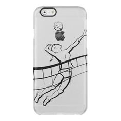 Volleyball Spike Female Clear iPhone 6 Plus Case