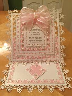 Wedding  card made using Tonic dies
