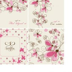 BACKGROUND / Free vector Vector background Hand-painted flowers card Background