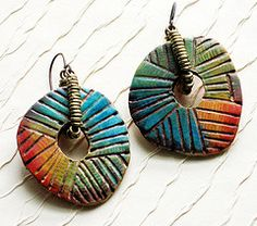 """Flickr - """"Stories they tell"""" - so tactile and colorful #polymer #clay #jewelry"""